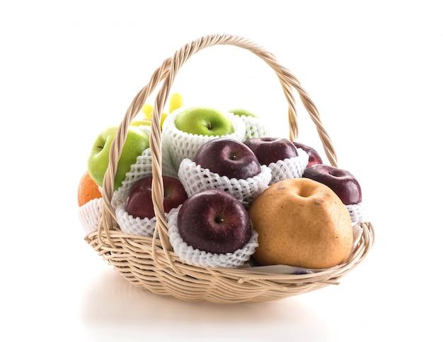 Frutas em uma cesta