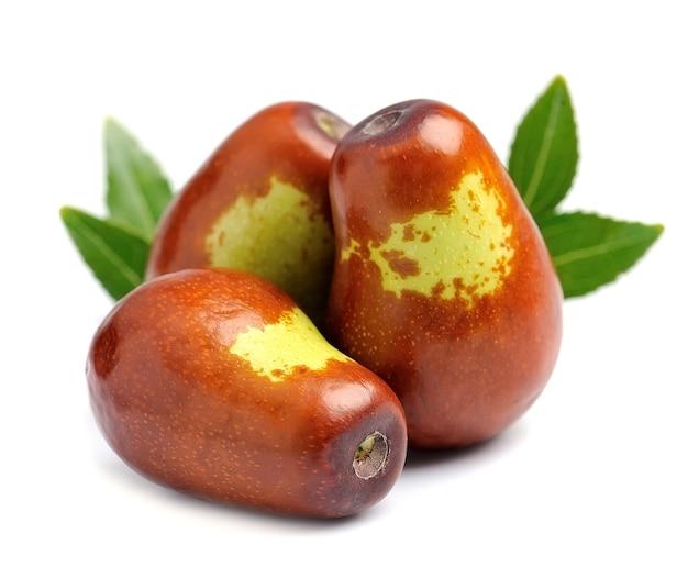 Frutas jujuba fecham em branco. unabi.