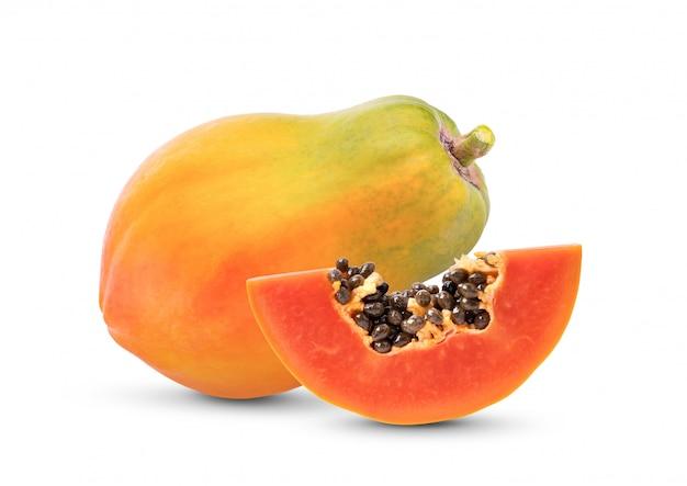 Frutas maduras de mamão