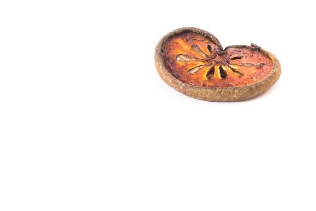 Frutas secas bael 1 peça, cópia espaço