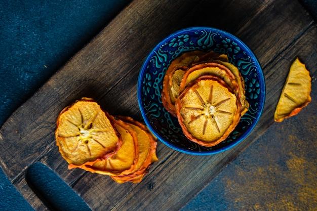 Frutas secas caqui