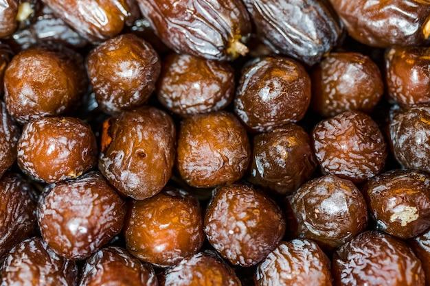 Frutas secas disponíveis no mercado para compra