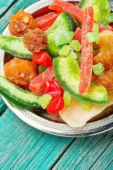 Frutas secas e cristalizadas