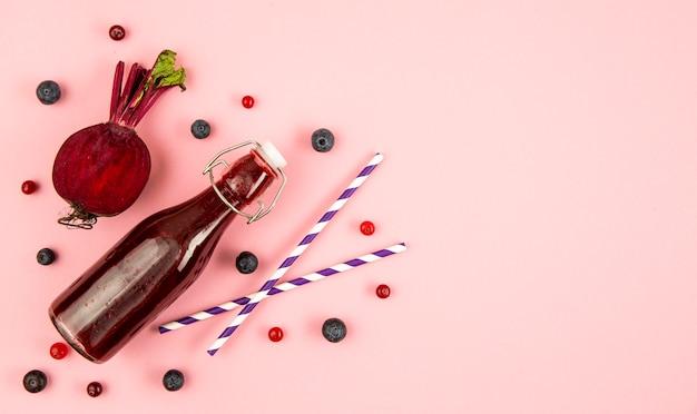 Frutis de espaço para texto para smoothie