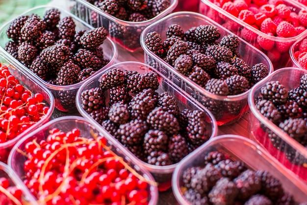 Frutos de baga no mercado