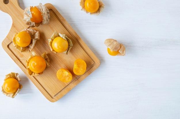 Frutos de cape gooseberry para a saúde