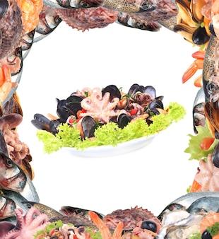 Frutos do mar frescos