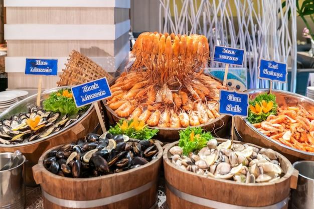 Frutos do mar no mercado