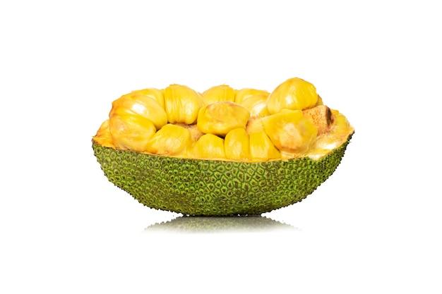 Frutos maduros de jack isolados no fundo branco