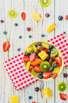 Frutos misturados e sortidos