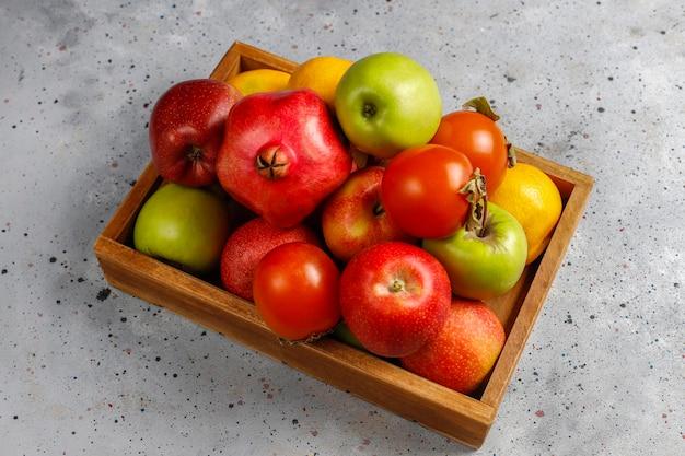 Frutos orgânicos de outono.