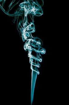 Fumaça azul delicada