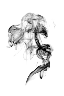 Fumaça escura isolada