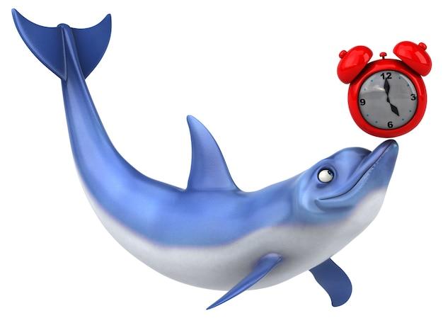Fun dolphin - ilustração 3d