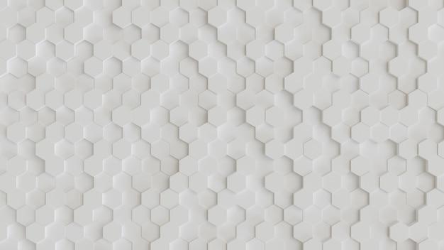 Fundo 3d abstrato hexagonal