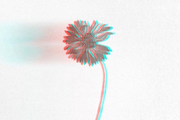 Fundo 3d anáglifo de papel de parede de flores