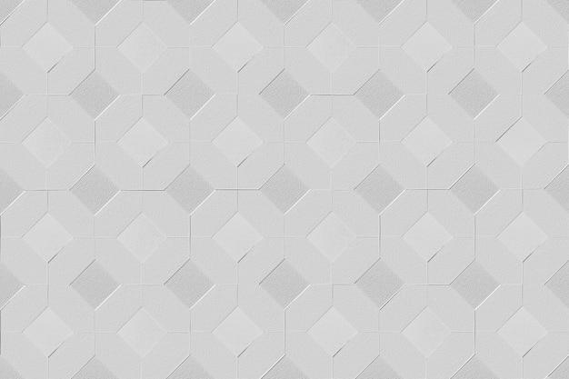 Fundo 3d com padrão de diamante quadrado cinza