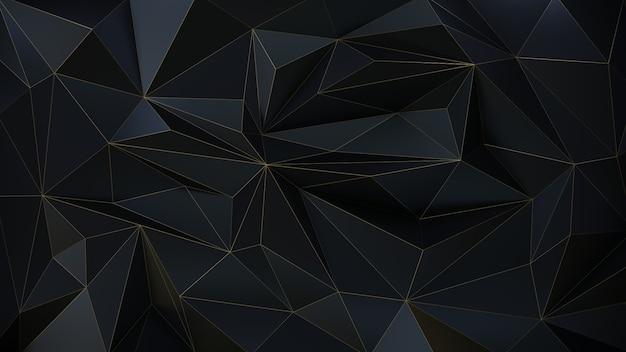 Fundo 3d escuro geométrico da partícula.