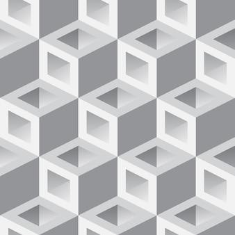 Fundo 3d isométrico com cubos. padrão sem emenda geométrico futurista. ilusão ótica de volume