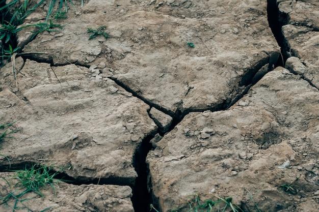 Fundo à terra secado da textura do solo rachado da terra.