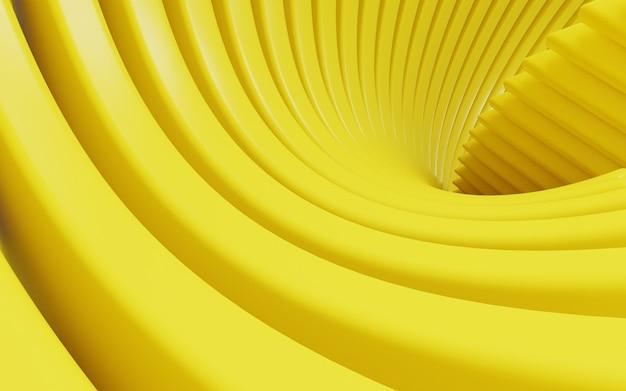 Fundo abstrato amarelo simples de renderização em 3d de forma geométrica