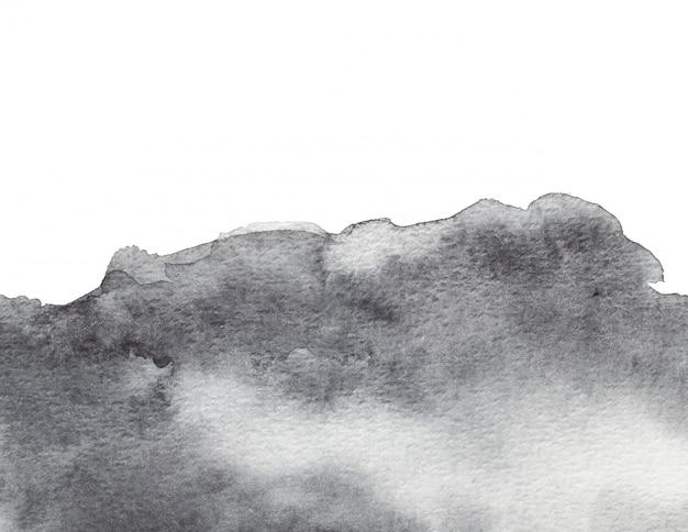Fundo abstrato aquarela cinza. pintura em papel