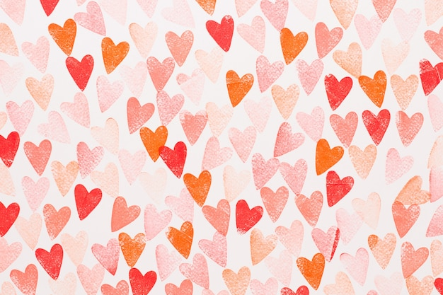 Fundo abstrato aquarela coração vermelho, rosa. amor de conceito, cartão de dia dos namorados.