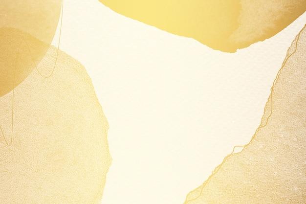 Fundo abstrato aquarela dourado