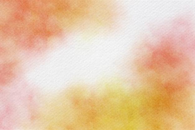 Fundo abstrato aquarela laranja e rosa