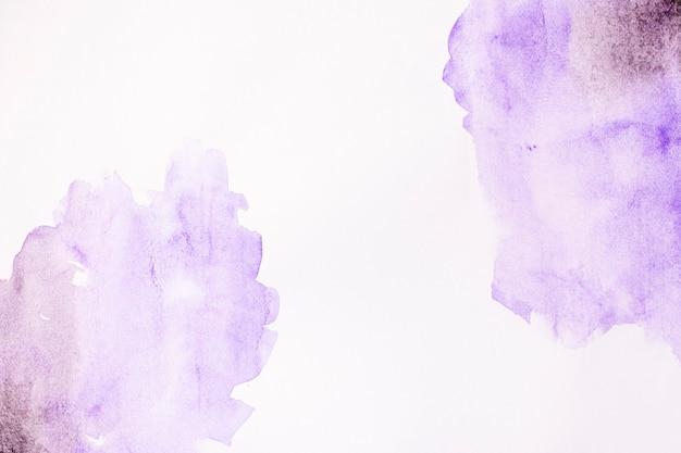 Fundo abstrato aquarelle manchas violeta