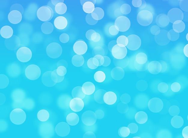 Fundo abstrato azul luzes de bokeh
