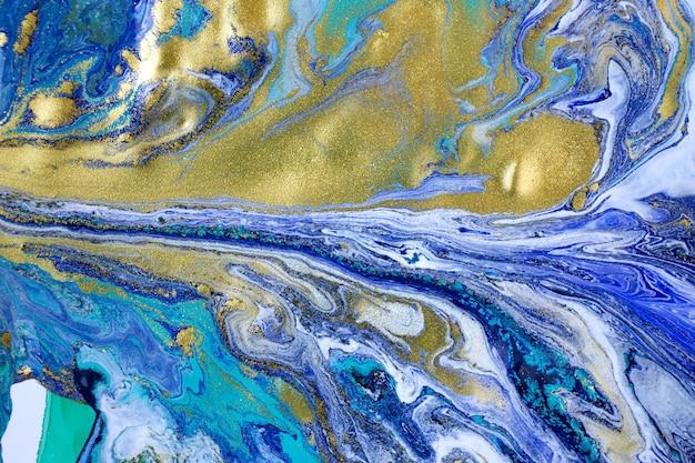 Fundo abstrato azul marmoreado. padrão de mármore líquido.