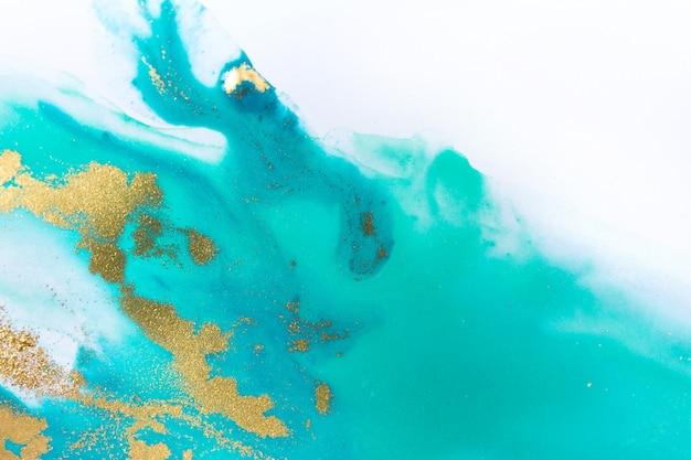 Fundo abstrato azul marmorizado da onda no estilo do oceano.
