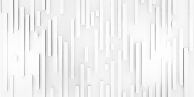Fundo abstrato barras quadradas brancas matt sobre fundo branco ilustração 3d
