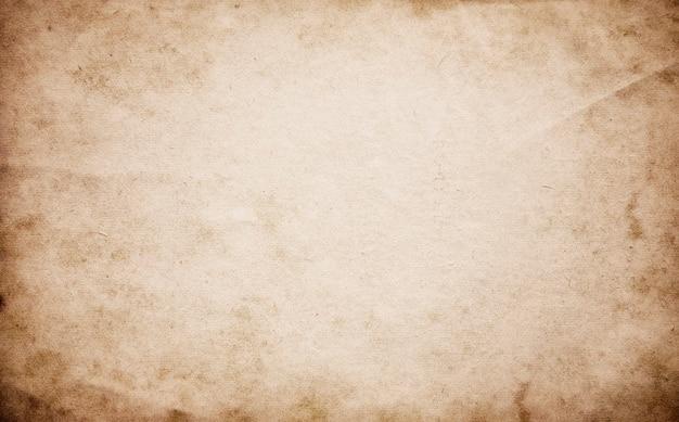 Fundo abstrato bege em branco, manuscrito grunge marrom, textura de papel velho