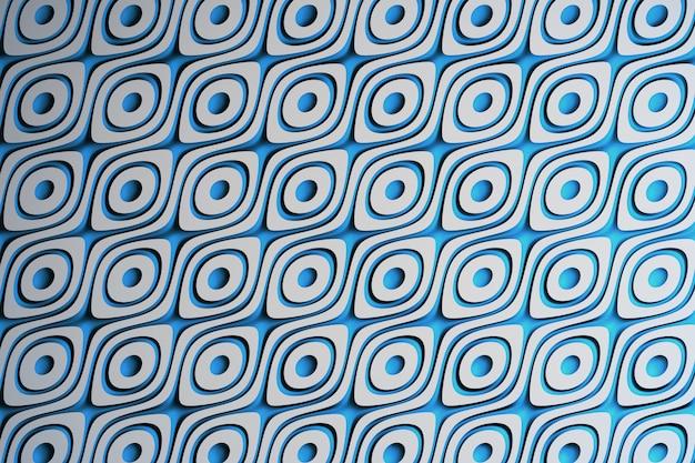 Fundo abstrato bonito com formas ovais e circulares
