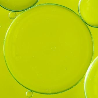 Fundo abstrato borbulhante de limão brilhante