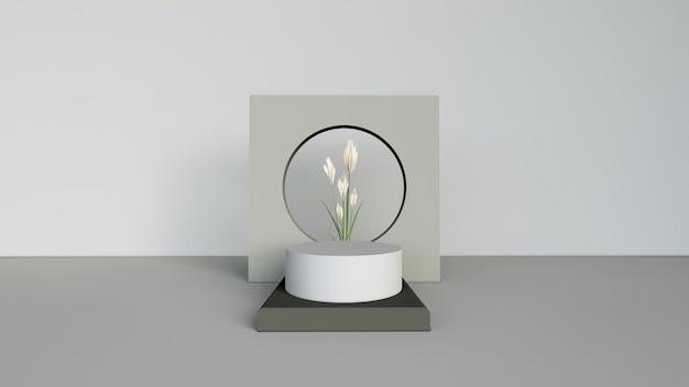 Fundo abstrato, cena para exposição do produto. renderização 3d