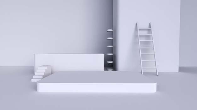 Fundo abstrato, cena para exposição do produto
