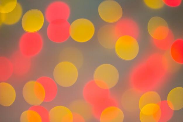 Fundo abstrato circular bokeh de luz de natal
