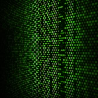 Fundo abstrato código binário