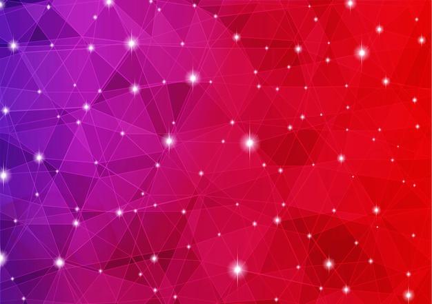 Fundo abstrato colorido polígono