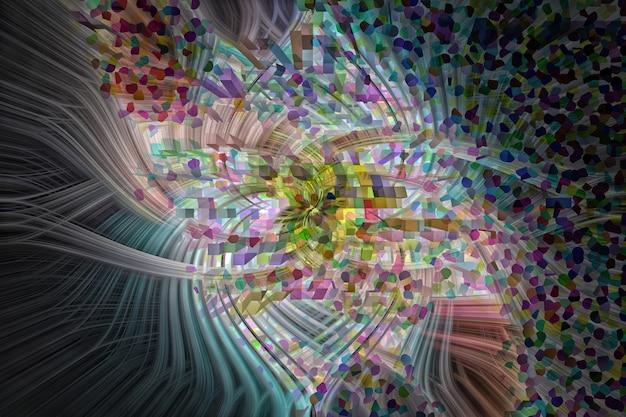 Fundo abstrato colorido. vermelho, amarelo, verde, branco, preto, amarelo.3d ilustração