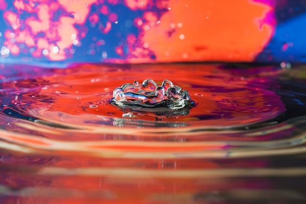 Fundo abstrato com água espirra