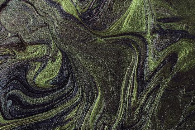 Fundo abstrato com brilho verde e azul conceito de composiçãobonitas manchas de esmaltes líquidos para unhas