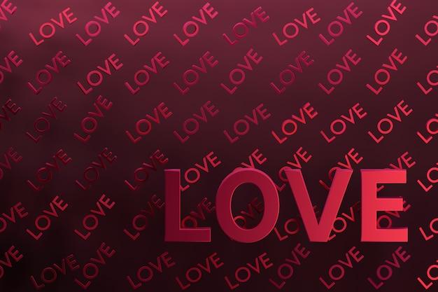 Fundo abstrato com cartas de amor no luxuoso roxo escuro