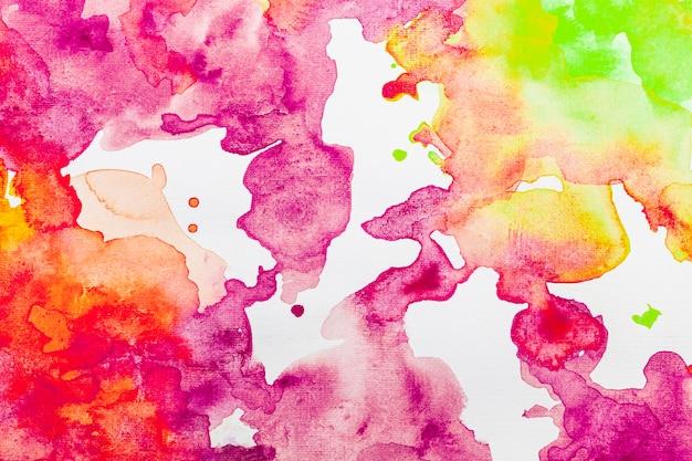 Fundo abstrato com cores quentes em aquarela