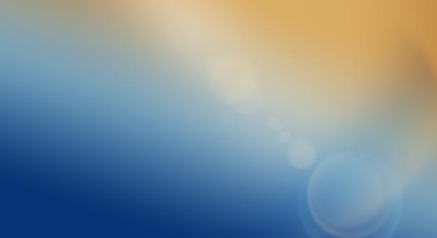 Fundo abstrato com gradiente de laranja a azul