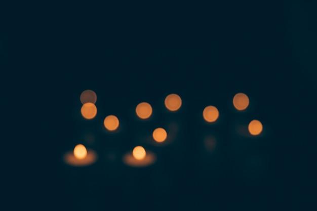 Fundo abstrato com luzes de bokeh