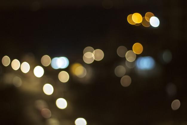 Fundo abstrato com luzes desfocadas bokeh e sombra